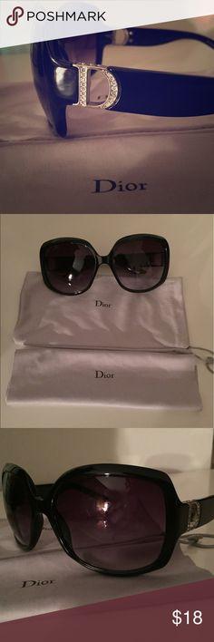 "Dior sunglasses, with Swarovski crystals Dior sunglasses - with Swarovski crystal ""D"" on the sides. In excellent condition, no missing crystals, no scratches. Dior Accessories Sunglasses"