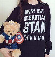 Ok but Sebastian Stan Though Long Sleeve Shirt by MXLoutfitters on Etsy https://www.etsy.com/uk/listing/291365275/ok-but-sebastian-stan-though-long-sleeve