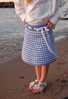 Crochet Pattern Houndstooth Girls Skirt 2 by ACrochetedSimplicity, $3.00