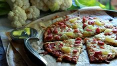 Pizza en croûte de choux-fleur
