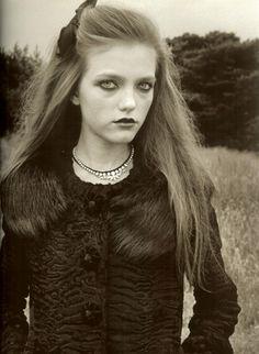 Vlada Roslyakova photographed by Venetia Scott for Self Service Magazine, Winter 2005