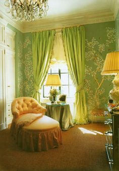 Vogue - January 2001 Gracie's custom handpainted Chinoiserie for Aerin Lauder