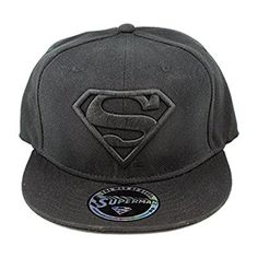 783a7d30db1b8 DC Comics Superman Casquette de baseball - Classic Logo Snapback Casquette  Noir  Amazon.fr