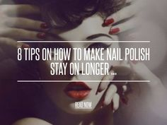 8 Tips on How to Make Nail Polish Stay on Longer ... - Nails I don't know about you ladies, but recently I started doing my own manicures, and the issue I have is how to make nail polish stay on longer. Sometimes, when I do my own nails, I can only go a day or two before I start to see it all chipping away. So I did some research, and I have got it down to a science now, so I thought it's only fair to share it with my gals. Here are my 8 tips on how to make nail polish stay on longer.