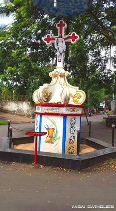 The Marbhat Gaon Parivar Cross at Mulgaon, Near Mulgaon Church is a fairly old Cross erected on 24th May, 1923 and well maintained too.