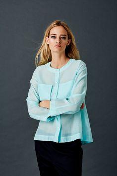 Shirt in Cotton Silk Organza Silk Organza, Cotton Silk, Fashion Brand, Spring Summer, Spirit, Tunic Tops, Modern, Collection, Fashion Branding
