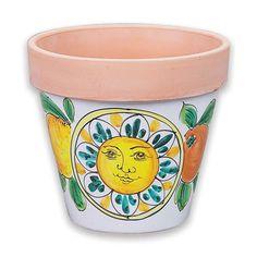 Medium Flowerpot - sun/fruit