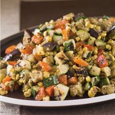 Grill-Roasted Vegetables with Basil Pesto | Williams-Sonoma  Husband loves it so I cannot tell him there's eggplant in it - he'll melt