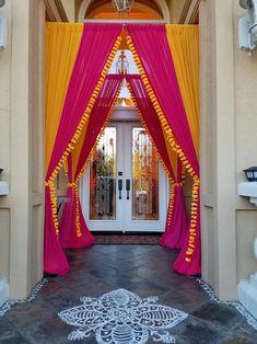 Desi Wedding Decor, Wedding Hall Decorations, Marriage Decoration, Backdrop Decorations, Wedding Entrance, Wedding Ceremony, Mehendi Decor Ideas, Diwali Decorations At Home, Housewarming Decorations