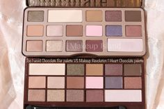 too faced chocolate palette dupe: makeup revolution chocolate palette | makeup