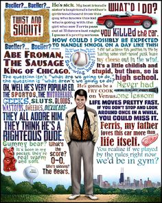 The genius of John Hughes to never forget the mindset of a teenager will be missed forever.  Rest in peace : Ferris Bueller's Day Off