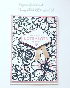 Stampin'Up! Petal passion paper with lots of happy sentiment love this
