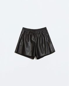 (low key need this) Image 6 of FAUX LEATHER JOGGING SHORTS from Zara