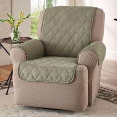 Look at this zulilyfind Natural Puff WingbackRecliner Cover by