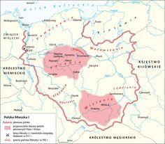 Polska w X w. albo Polska Mieszka I Poland Map, Poland History, Early Middle Ages, Historical Maps, Empire, Books, Eastern Europe, Curiosity, Buildings