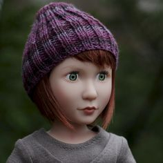 Beanie Hat PDF Knitting Pattern for 16 inch doll Such as A Girl For All Time Doll by foxandfamily on Etsy https://www.etsy.com/listing/288680309/beanie-hat-pdf-knitting-pattern-for-16