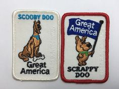 Scooby Doo Scrappy Souvenir Patch Great America California Amusement Park Set 2  | eBay