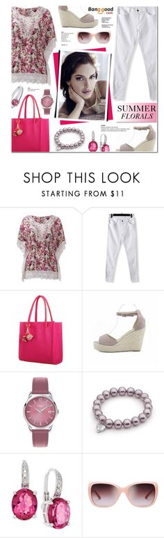 """Banggood 10 - Summer Florals"" by anyasdesigns ❤ liked on Polyvore featuring Henry London, Victoria Townsend and Tory Burch"