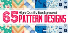 Background Pattern Designs: 65 Seamless Patterns For Websites Background #patterndesign #photoshoppattern #seamlesspattern
