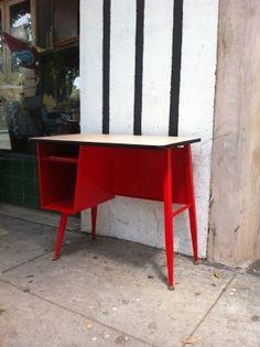 school desk painted refurbished