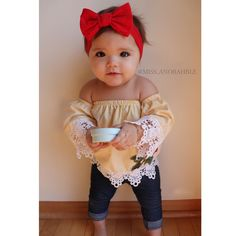 Baby Girl Fashion | Baby Fashionista | Baby Style | Kids OOTD | Bow | Norah Eve