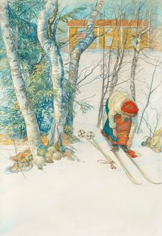 Carl Larsson |  The Skiier, 1911