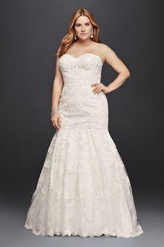Corset Bodice Mermaid Lace Plus Size Wedding Dress Style 9SWG755