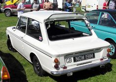 Hillman Imp - strange little car with the engine at the back, the boot at the front and a rear window that opened!