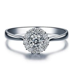 Verlobungsringe - Damen Diamant Ring 14kt Weißgold Verlobungsring - ein Designerstück von lovediamonds bei DaWanda