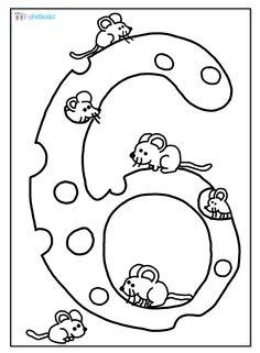 Omalovánka - čísla Preschool Education, Free Preschool, Preschool Printables, Preschool Crafts, Fun Activities For Preschoolers, Easy Crafts, Homeschool, Snoopy, Symbols