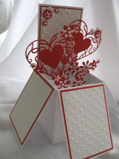 Pop Up Box Card - weding