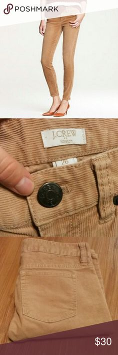JCrew tan corduroy pants!! Super cute JCrew tan corduroy pants!! Would be great for the office or a weekend at home! Great condition!! J. Crew Pants Skinny