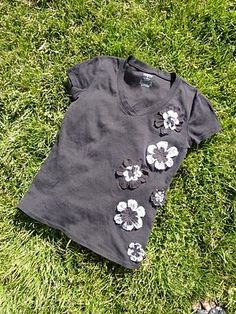 Flower T-shirt Tutorial - a Refashion