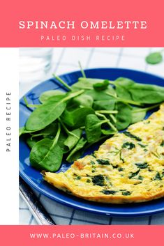 Spinach Omelette  #Paleo #Recipe #food #diet #keto