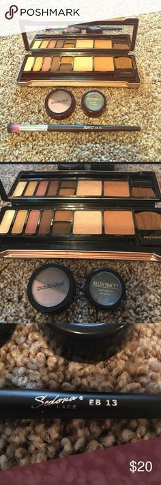 Make up bundle 💕 Contour pallet 💕 Eyeshadow Brand new make up! Professional make up palette in hard case only thing missing is make up brush but I added Sedona Lace Eb 13 💋 Paula dorf eyeshadow duo 🎀 Ellen tracy smokey eyeshadow 💕 add more listings and save! Ellen Tracy Makeup Bronzer