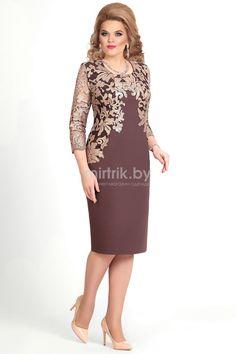 Платье Mira Fashion, коричневый (модель 4166) — Белорусский трикотаж в интернет-магазине «Швейная традиция»