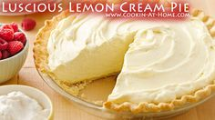 Luscious Lemon Cream Pie - Cooking at Home