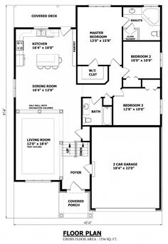 split bedroom house plans for 1500 sq ft 4 bedroom house ebay ...