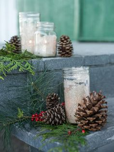 35+ Crafty Outdoor Holiday Decorating Ideas | HGTV >> http://www.hgtv.com/design/decorating/design-101/crafty-outdoor-holiday-decorating-ideas-pictures?soc=pinterest