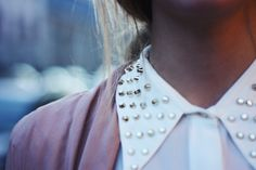 I need a button-down with a bedazzled collar. that'll complete my wardrobe