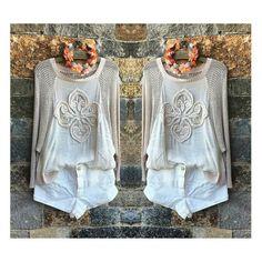 Blusa Ampla Tricot w/ Seda com detalhe Bordado Mandala | Haes ♡ Disponível TAM. P    ••••••• 》》Whatsapp 43 9148-2241  ☎  43 3254-5125.    Rua Rio Grande do Norte, 19 Centro - Cambé-Pr  #querootudo#venhaseapaixonar #carolcamilamodas #dresses #festa #euqueroo #fashionistando #style  #fashion #musthave #workfashion #modaparameninas #despojado  #trabalharcomestilo #desejododia  #lookcarolcamilamodas #lookfashion