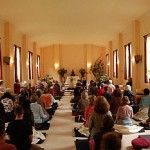 Gaia house Group Retreat in the meditation hall - New Retreat Programme