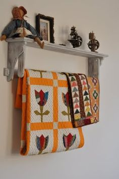 Small quilts on display