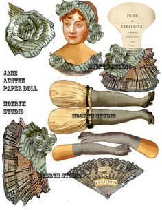 Jane Austen Pride And Prejudice Paper Doll by Raidersofthelostart, $3.50