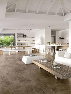 Stone mix- Limestone Brown: Restaurantes de estilo por Skyfloor https://www.homify.com.mx/proyectos/499900/pisos-de-madera