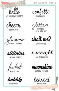 12 great font pairings