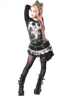 2WAY BLACK FRILL Culotte Skirt (F) SC01109-10102 SEX POT ReVeNGE APPAREL. See more at http://www.cdjapan.co.jp/apparel/ #punk #japanesefashion