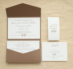 Handmade Wedding Invitations & Pocketfold Invitations – Woodland