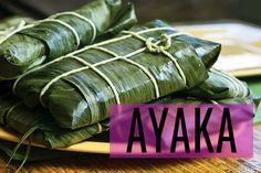 Deze heerlijke ayaka wordt gemaakt van maïsmeel en kip. Ze zijn in bananenbladeren gewikkeld voor extra smaak. Antillianen maken ze traditioneel met kerst.