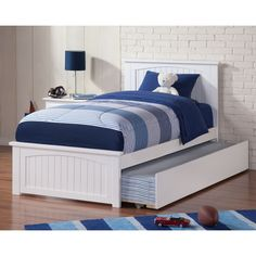 Atlantic Madison Bed with Matching Footboard and Urban Trundle Bed